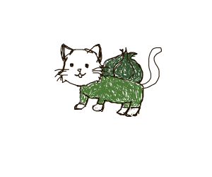 A Cat Dressed as bulbasaur