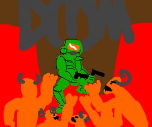 The original doom game cover art