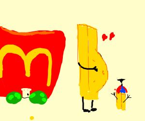 Someone got McDonalds' french fries pregnant?