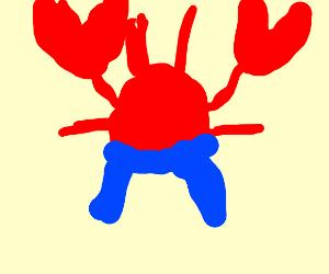 Lobster wearing Pants