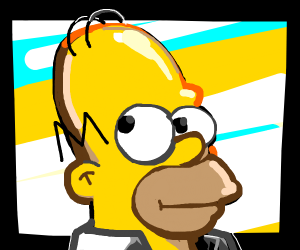 Homer looks to the left