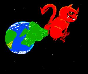 devil farts on earth