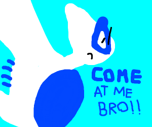 Lugia is annoyed