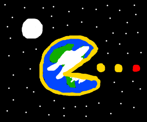 Earth is Pacman