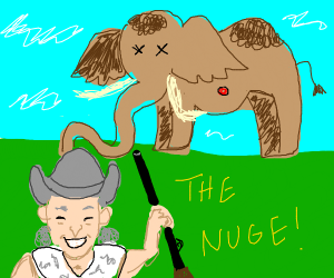 Ted nugent shoots a mammoth