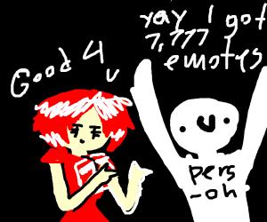 I got 7,777 emotes! Yesssssssss!