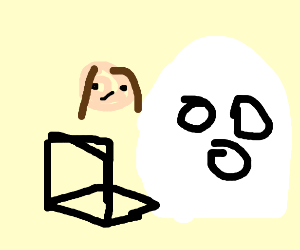 Girl shocks a ghost with something online