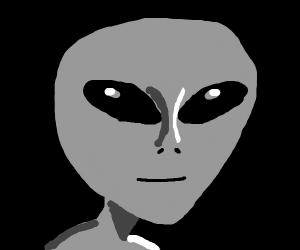 gray alien face