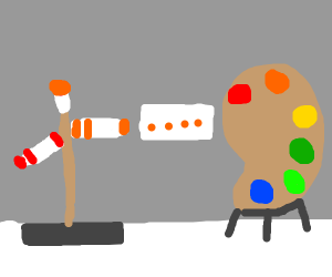 using paint tools like they're action figures