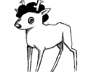 a deer with a weak afro