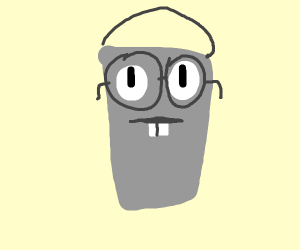 Bucket with glasses.