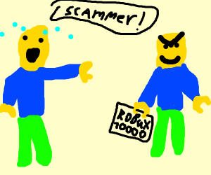 getting scammed in roblox
