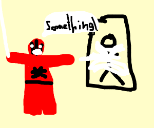 Spider-Man webs someone & shouts something