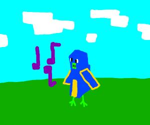 minecraft parrot dancing - Drawception