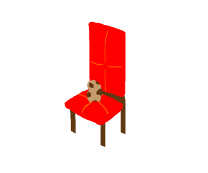 Potato sitting in a chair