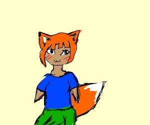 Orange haired fox girl