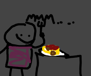 guy about to eat spaghetti