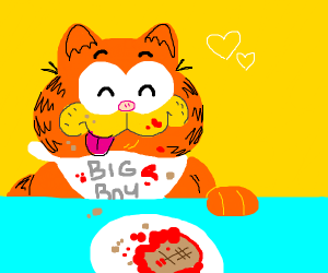 Garfield requires his daily lasagna