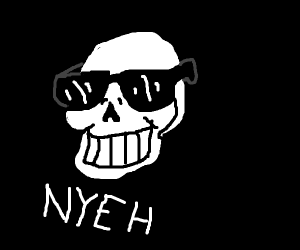 papyrus with sunglasses