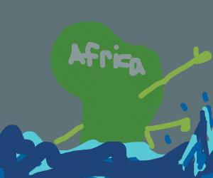 A continent swimming