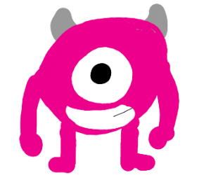 mike wizowski but pink fat and ugly