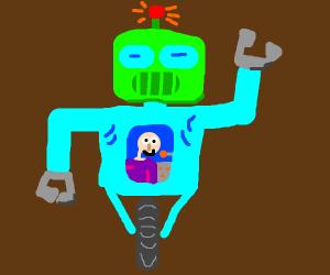 Boy in a robot.