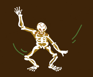Skeleton getting down with that sick Nae-Nae!