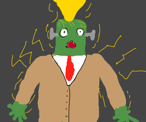 Frankenstein's Monster Struck by Lightning