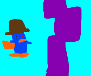 Doofensmirch's tower and perry the platypus
