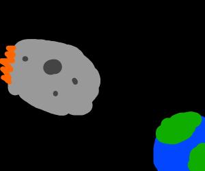 Meteor hits earth!