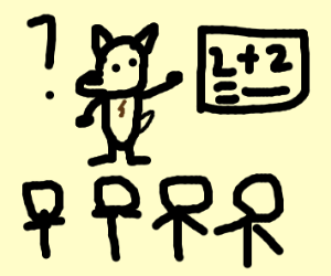 dog teaches a class