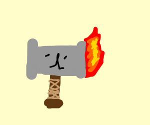 Epic war hammer of fire
