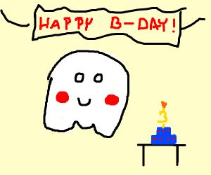 Sweet ghost celebrates 3rd birthday