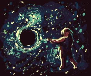 Astronaut shoots black hole