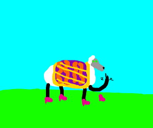 Fabulous green eyed sassy sheep