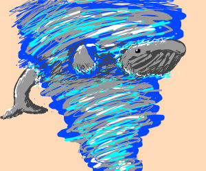 Whale in a twister