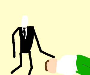 slenderman helping peter griffin get up