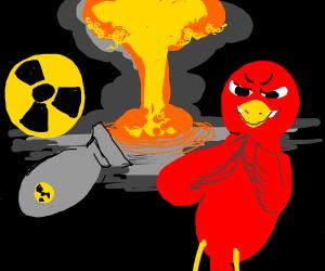 evil bird loves nuclear war