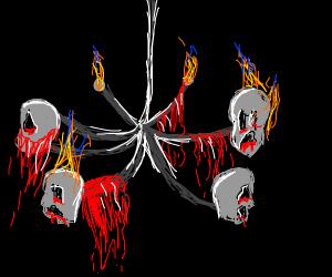 Satanic chandelier