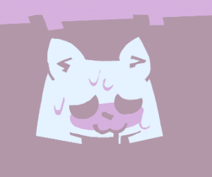 Discord logo but it's a cat with an OwO face