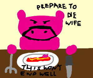 daddy pig eating mommy bacon