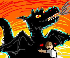 Draw a dragon. People like dragons.