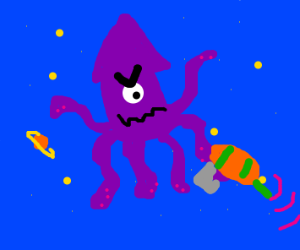 one-eyed laser-gun space-squid