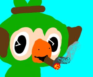 Grookey smoking cigar