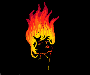 lady with flame hair