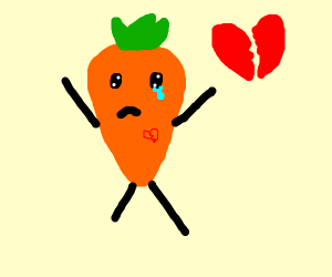 Carrot with a much stashed runsawayheartbrok