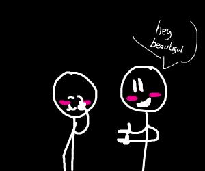 Two Homosexual Males Flirting