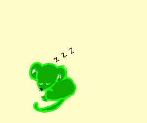 adorable green mouse