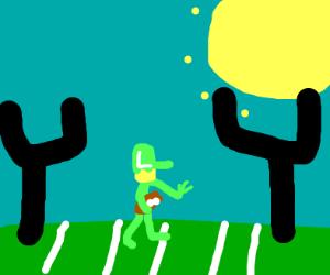 Luigi plays 'Murican football