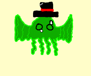 Cthulhu with a neat hat